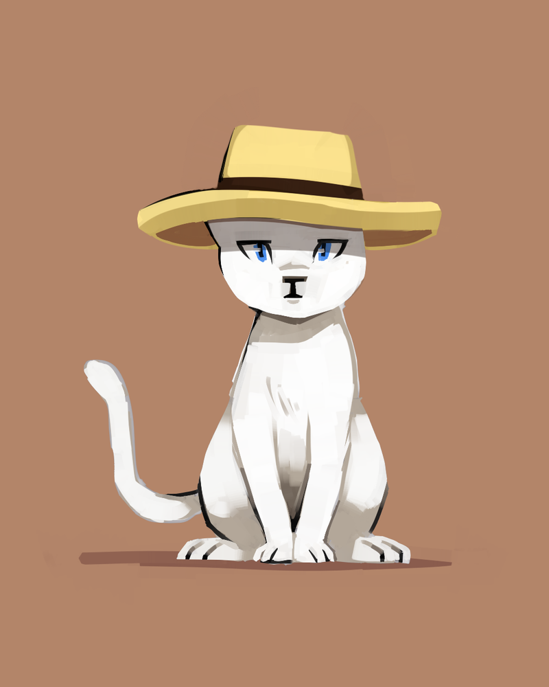 Cat in a hat by Karzahnii
