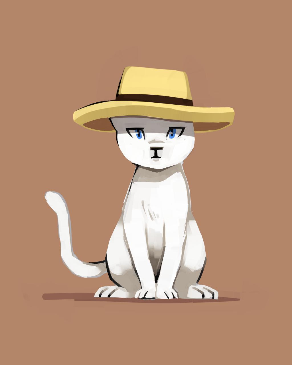 Cat in a hat by Karzahnii