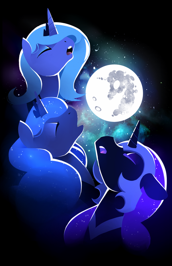 Three Luna Moon by Karzahnii