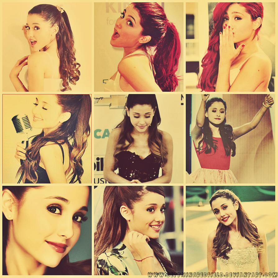 Ariana Grande~ Collage by BetthinaRedfield on DeviantArt