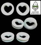Teflon heart plugs by AlexCyber-BodyArt