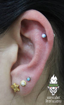 7b4662485 AlexCyber-BodyArt 0 0 Helix and third lobe piercings with opals by  AlexCyber-BodyArt