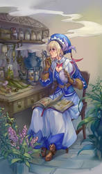The Trainee Herbalist by roosarea