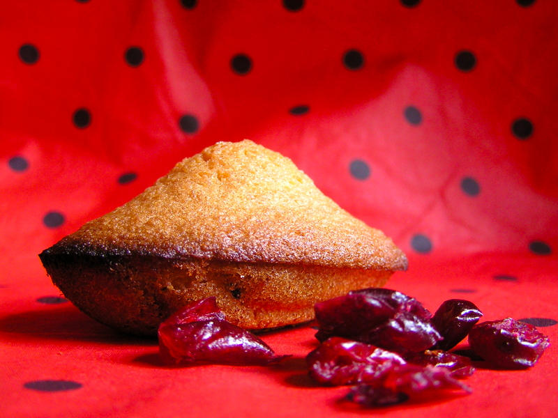 Cranberries madeleines
