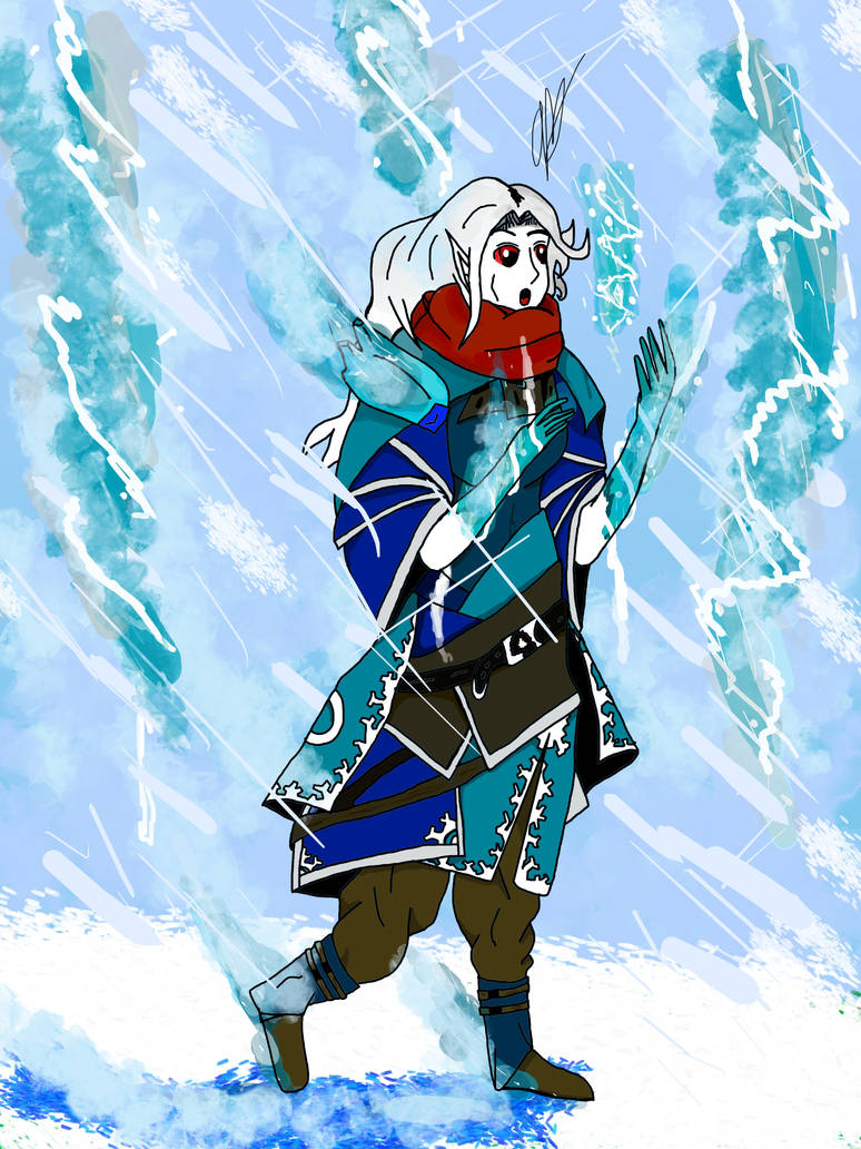 Lura the Ice Mage by Grassman101