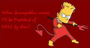 Bart Simpson04 -President of HELL!