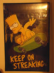 Bart Simpson -Keep On Streaking poster