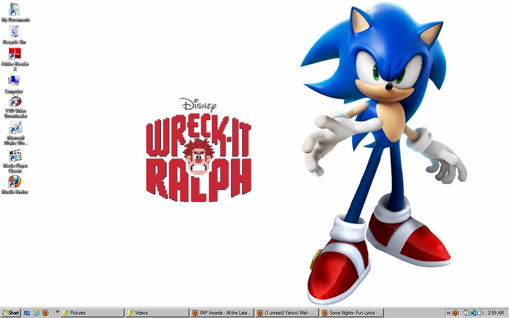 Wreck it ralph sonic