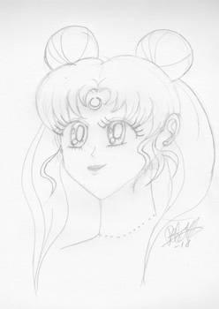 Practice sketch of Usagi in Naoko Takeuchi's style
