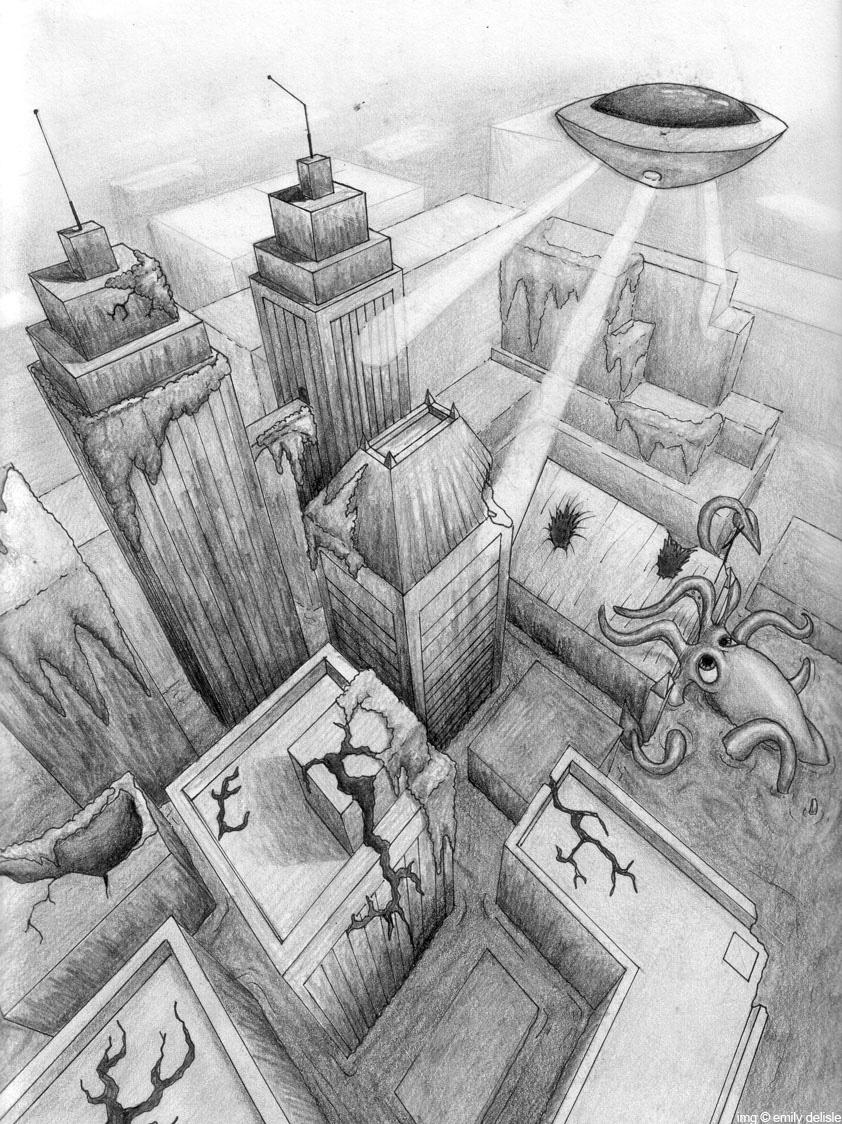 Metropolis in 3 point by fuzzybudgie on DeviantArt