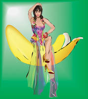 Katy Perry on a banana by shaypeyote