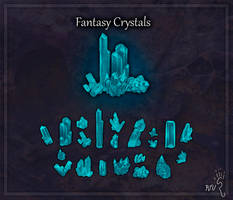 Fantasy Crystals Game Asset Pack by RatTheUnloved