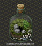 Terrarium in a bottle Cozy Minimap.