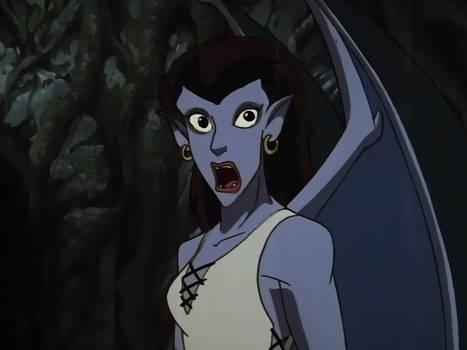 Gargoyles Angela Scared