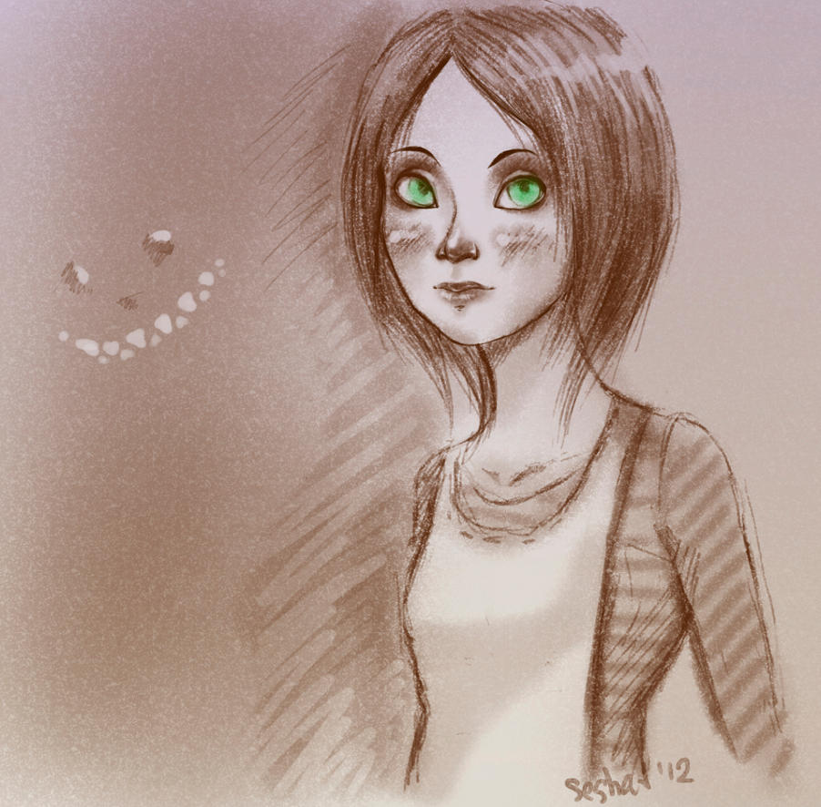 Alice sketch by ladypumpkinseed