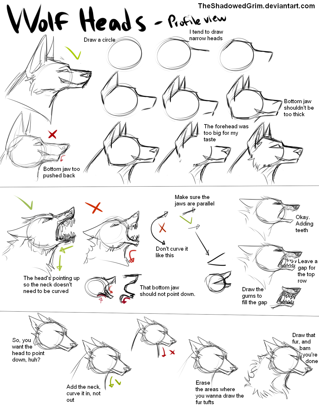 Lhuneart 798 26 How I Draw Wolf Heads By Theshadowedgrim