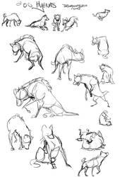 Hyena Sketches - Free poses