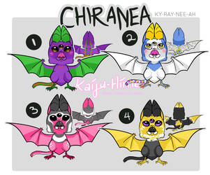 Chiranea Adoptables by kaiju-hime