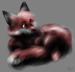 Fluffy Foxball by Acru