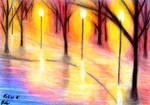 Parkside Lake in Lantern's Light