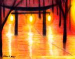 Lantern Torii at Night