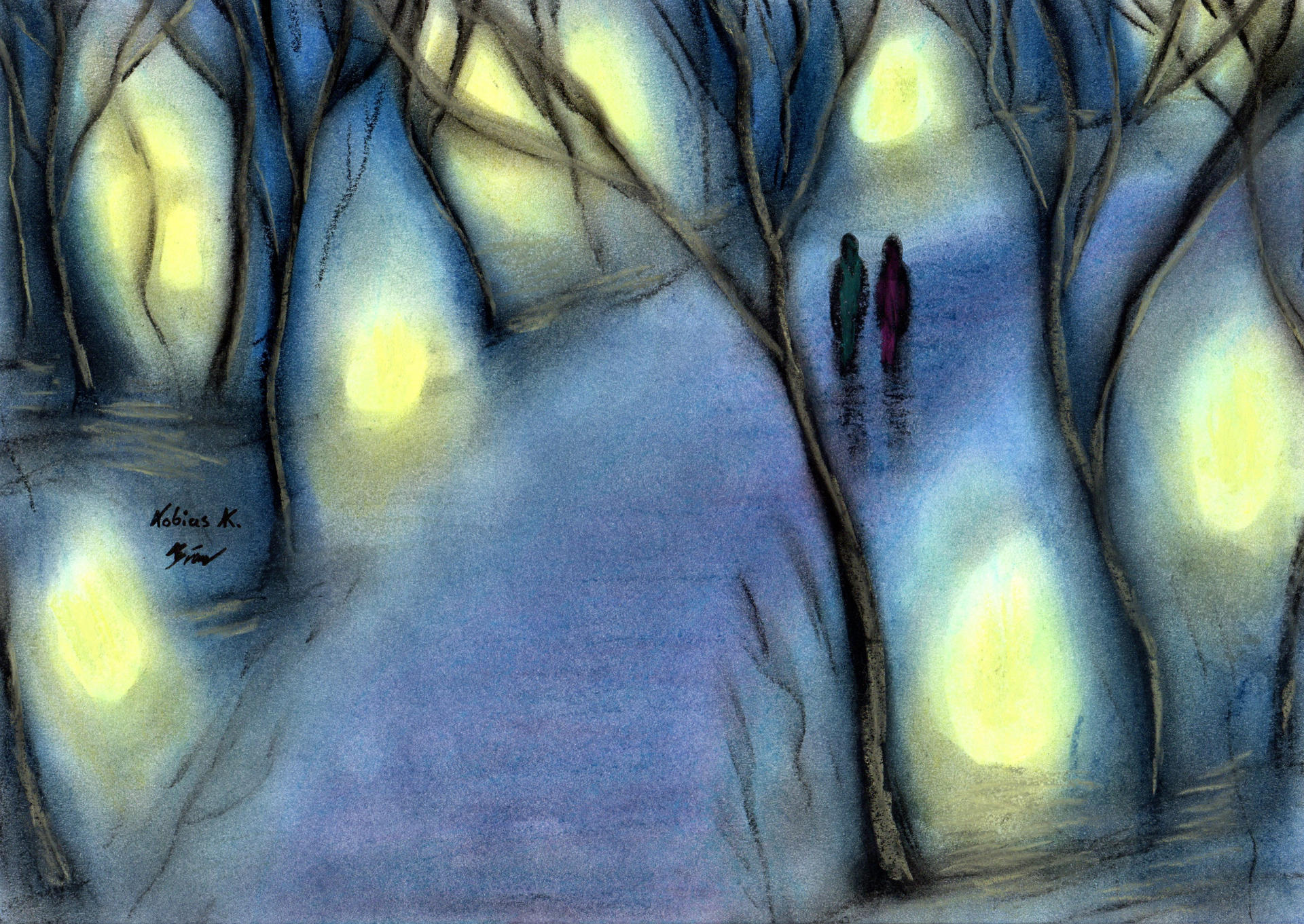 Walking together amidst the Glow of Gloom