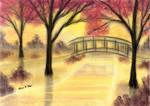 Autumn Sunset Bridge