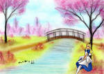 Alice under the Cherry Blossom Tree