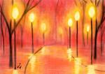 Lanterns into the Night