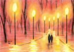 Walking amidst the Lanterns' Light