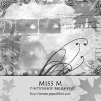 Miss M . photoshop brushes
