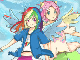 Rainbow Dash and Butterscotch !! [MLP] [Request] by MoJieZ04