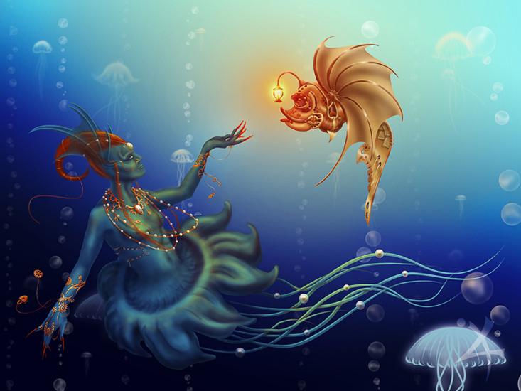 Underwater world by Milkweg on DeviantArt  Underwater World Drawings