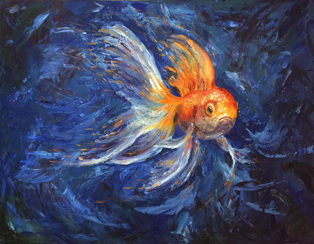 Goldfish by qi-art