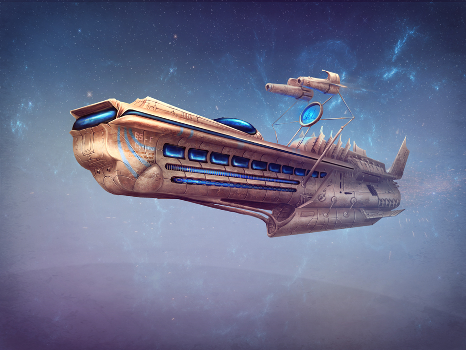 Spaceship by qi-art