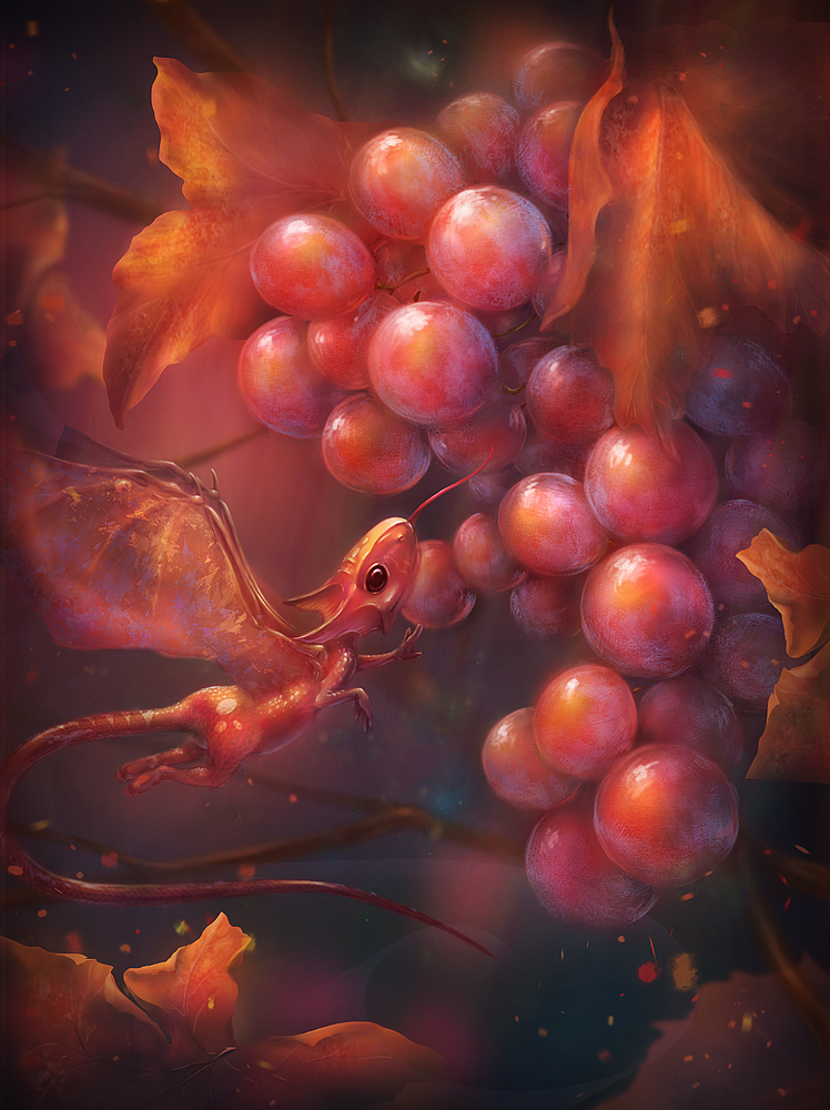 Fruit Dragon by qi-art
