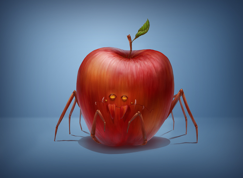 Apple-predator by qi-art