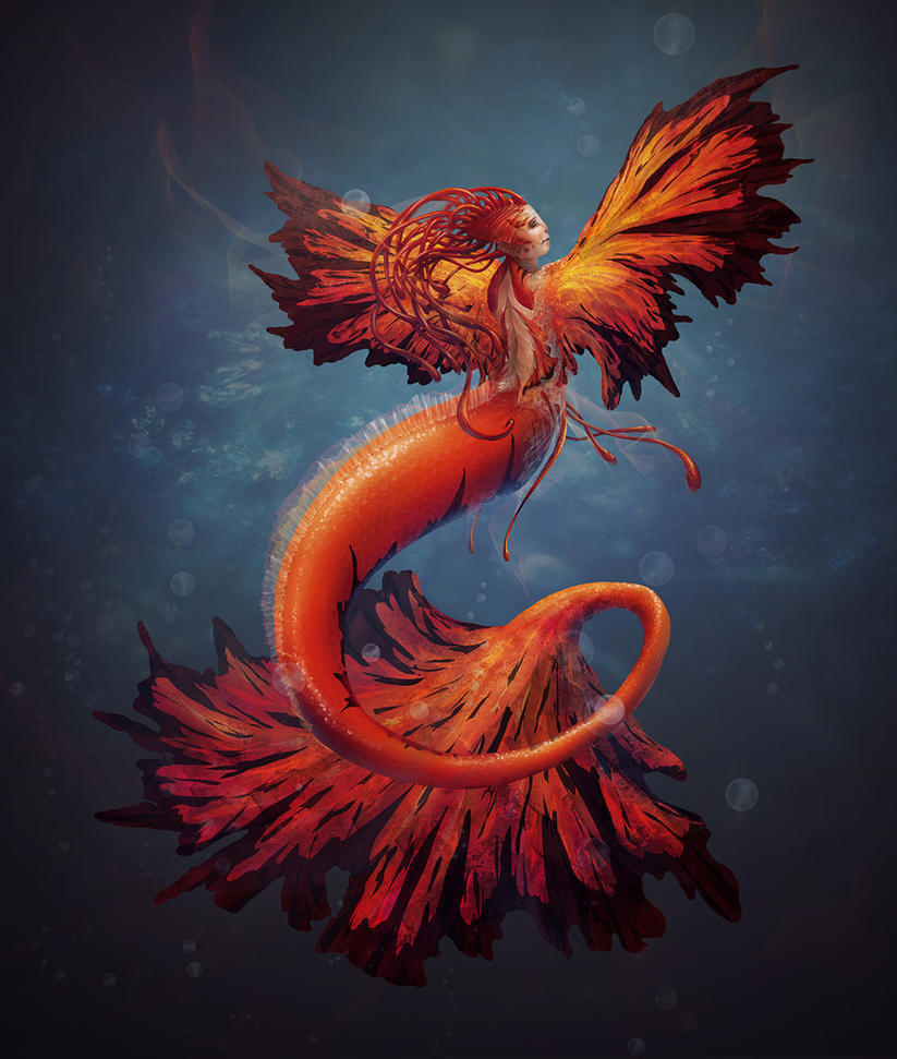 mermaid by qi-art