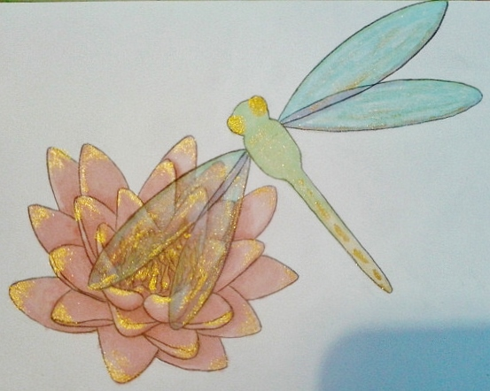 Dragonfly birthday card by Celtic-Lily