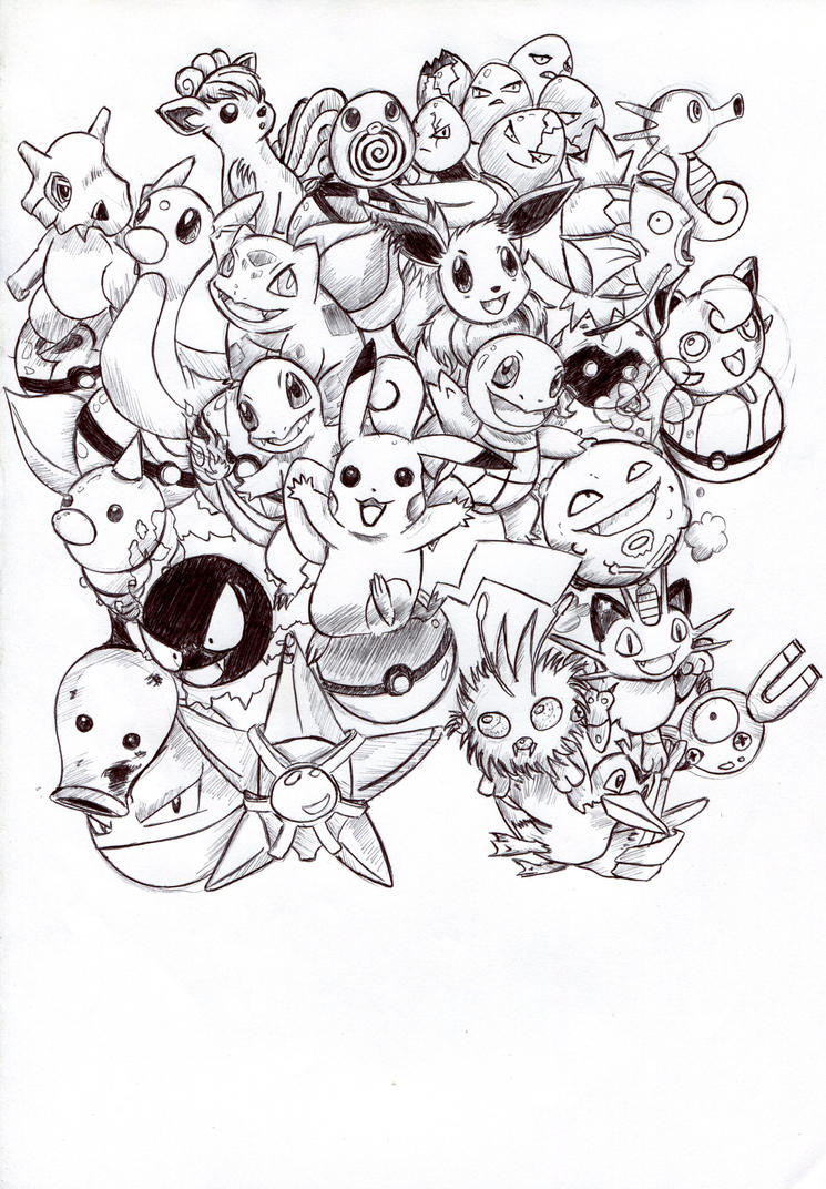 pokemon group coloring pages - photo#47