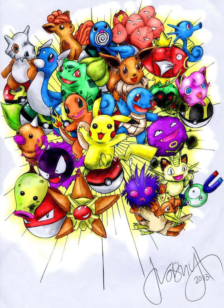 Kanto Pokemon Explosion! by troisnyxetienne