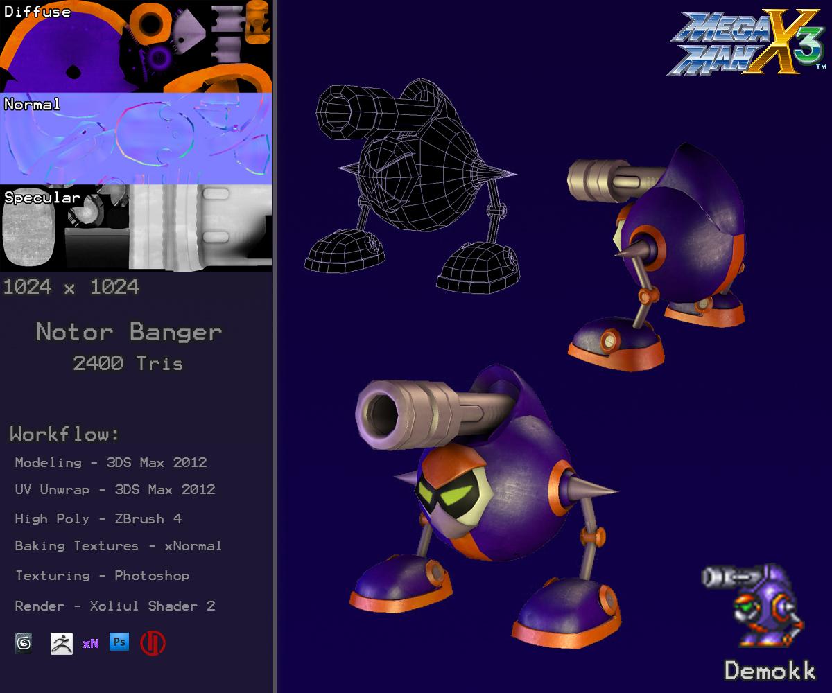 Notor Banger - Mega Man X3 by Demokk