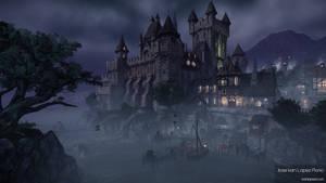 Night Castle Environment - CryEngine - Shot 01