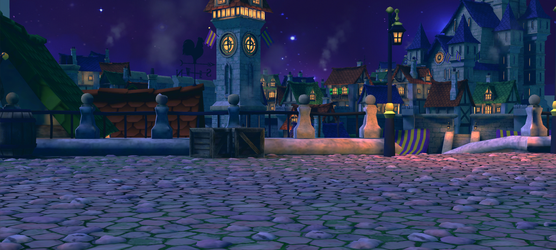 Project Throne - Town Night Battlefield by Zhibade