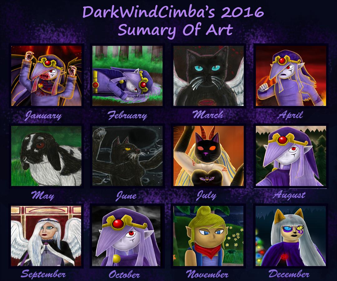 2016 Summary Of Art by DarkMageVarja