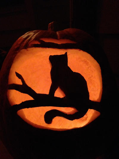 Kitty Pumpkin by DarkMageVarja
