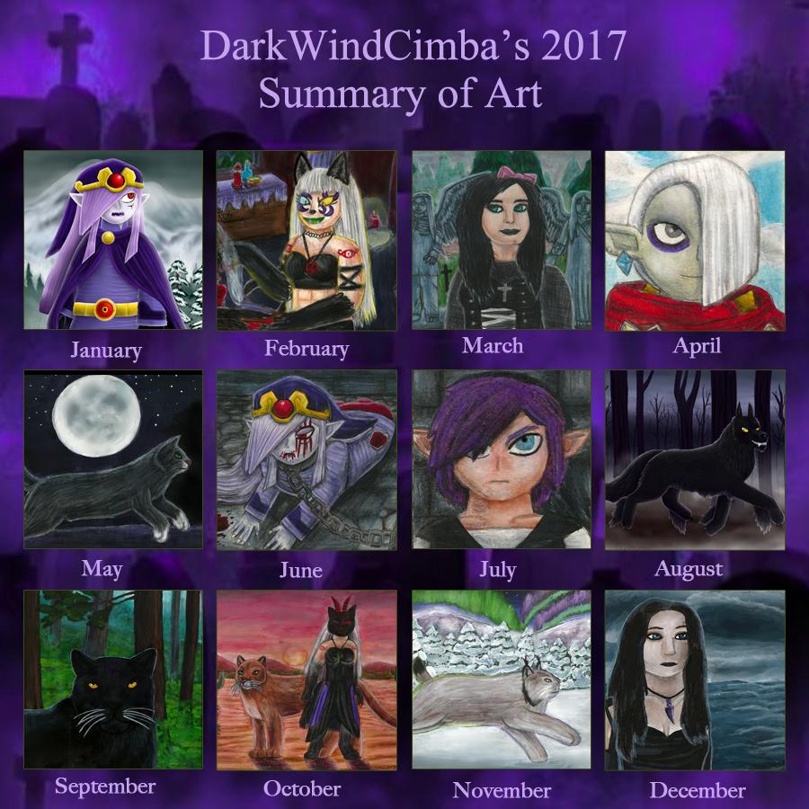 2017 Summary of Art by DarkMageVarja