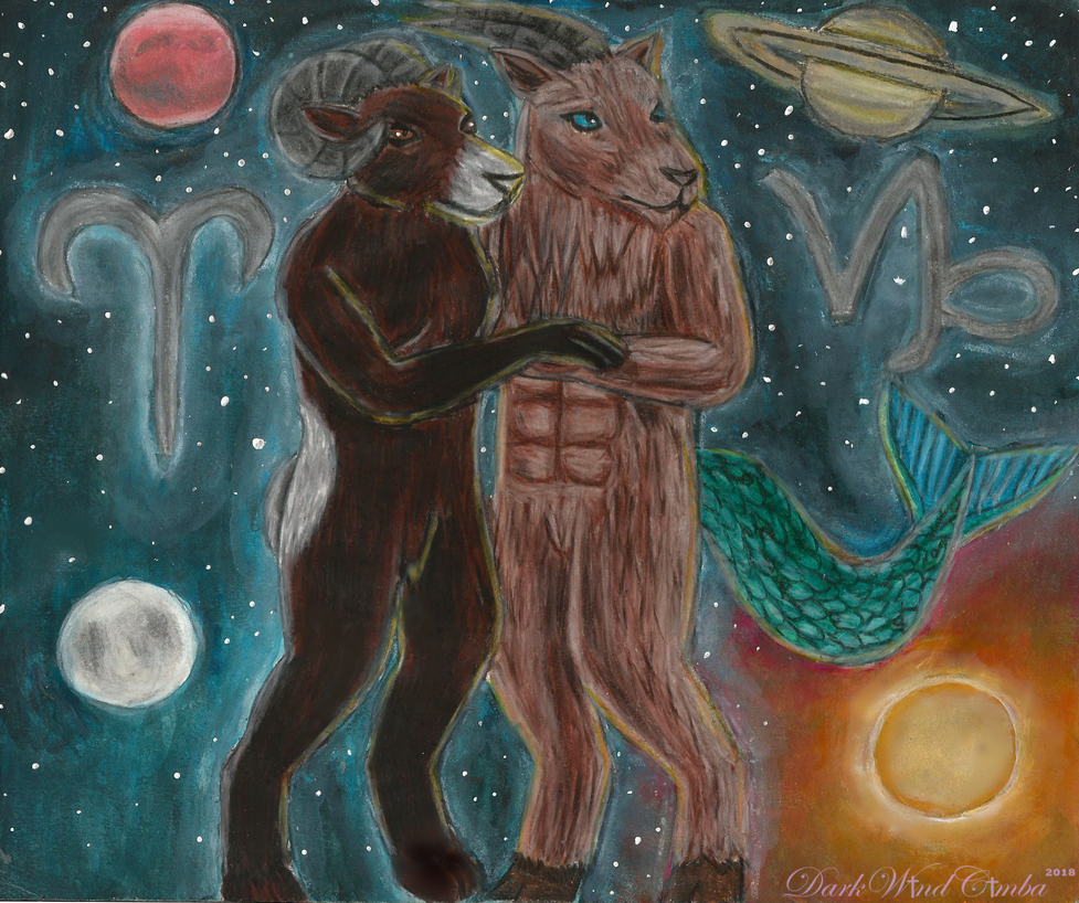 Aries and Capricorn by DarkWindCimba