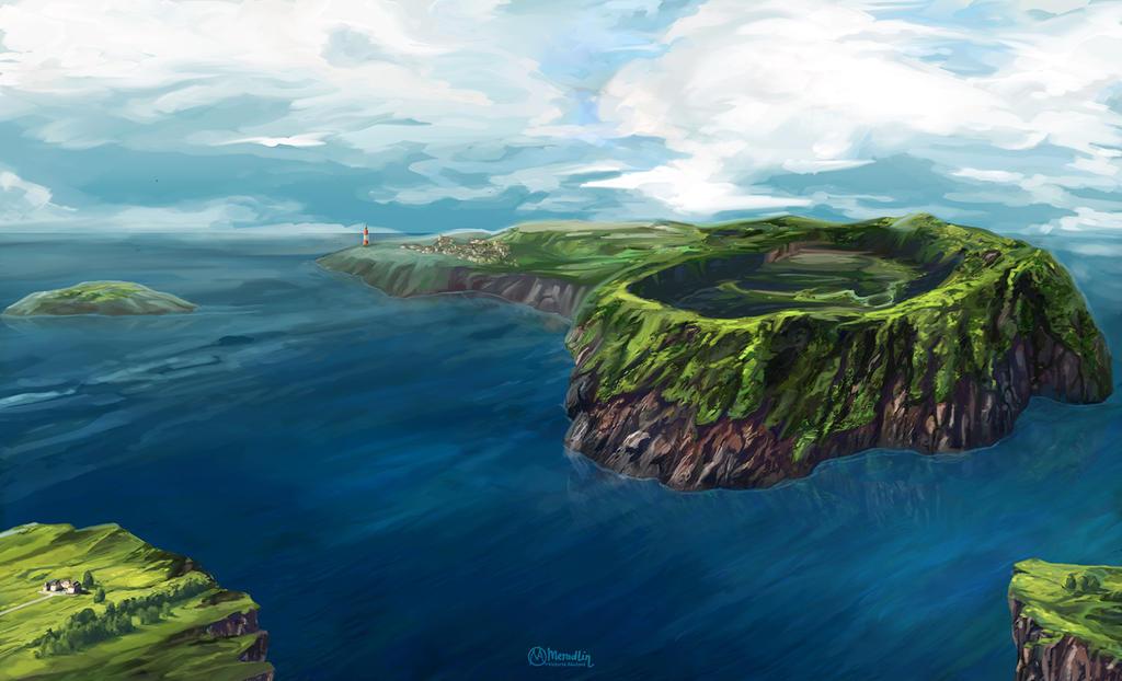 Volcanic island by Meradlin on DeviantArt