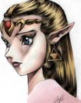 Zelda Bust Colored 7112
